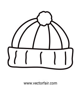 winter hat line style icon