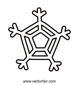 snowflake of winter season line style isolated icon