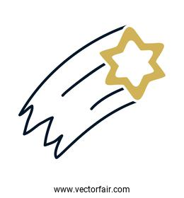 shotting star icon vector design