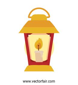 candle in lantern vector design