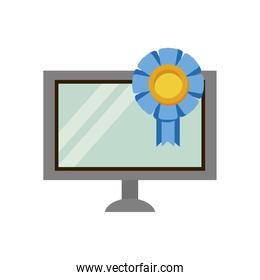 desktop computer device with medal
