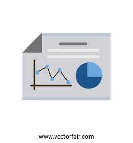 paper with statistics isolated icon