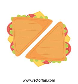 fast food, tasty sandwiches icon isolated design