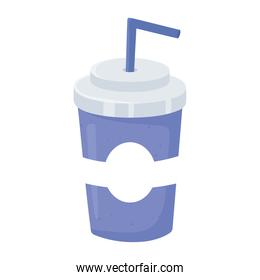 fast food, disposable cup with soda icon isolated design