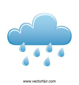 weather clouds rainy sky icon isolated image