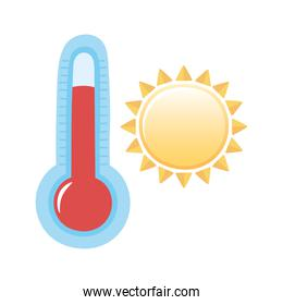 weather summer sun hot temperature icon isolated image