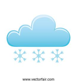 weather winter snowflakes cold cloud icon isolated image