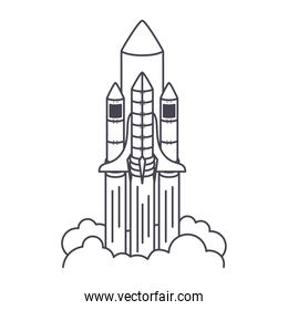 rocket launch icon with a white background