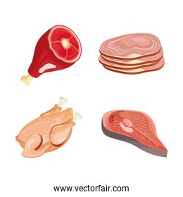 delicious fresh four butchery products