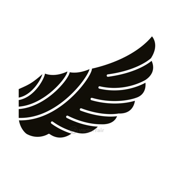 wing feathers bird style silhouette icon