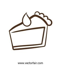 cake portion line style icon