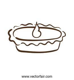 thanksgiving sweet pie delicious line style icon