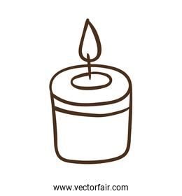thick candle line style icon