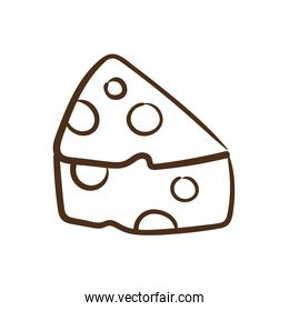 delicious cheese line style icon