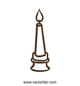 candle in chandelier line style icon
