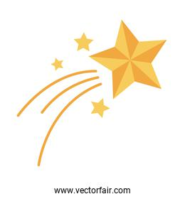 shooting star christmas decoration flat style icon