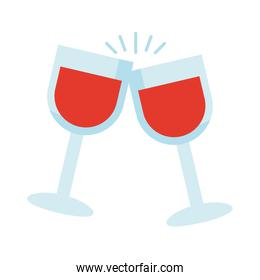 wine cups drink flat style icon