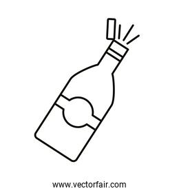 champagne bottle line style icon