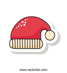 happy merry christmas red santa hat sticker icon