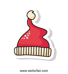 merry christmas red santa hat sticker