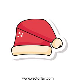 christmas red santa hat sticker icon