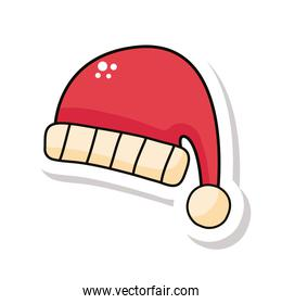happy merry christmas santa claus hat sticker