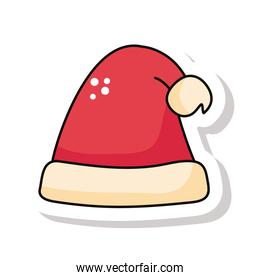 happy merry christmas red santa claus hat sticker