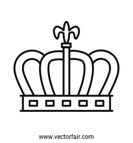crown queen royal line style icon