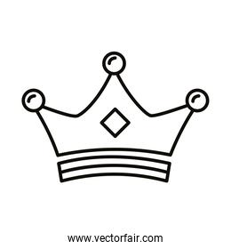 crown king royal line style icon