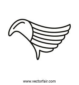 wing feathers bird style line