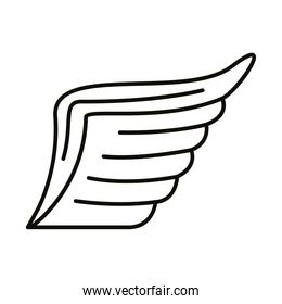 wing feathers bird line style