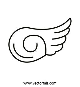 wing feathers bird line style icon