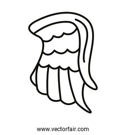 wing feathers angel line style