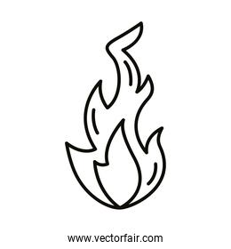 fire flame line style icon