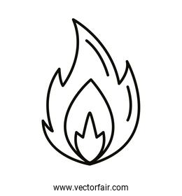 fire flame hot line style icon