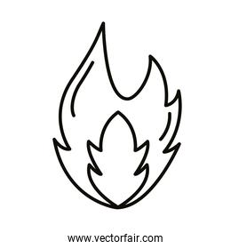 fire flame hot style line icon