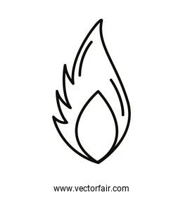 fire flame style line icon