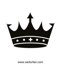 crown king royal with arrow silhouette style icon