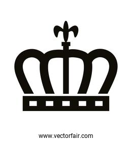 crown queen royal silhouette style icon