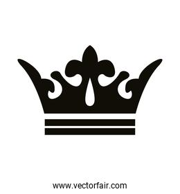 crown queen royal silhouette style