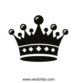 crown queen royal style silhouette icon