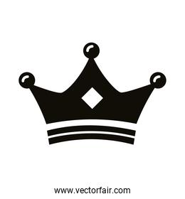 crown king royal silhouette style icon