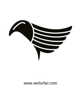 wing feathers bird style silhouette