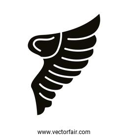 wing bird open style silhouette icon