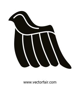 wing feathers angel silhouette style icon