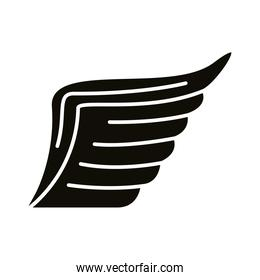 wing feathers bird silhouette style