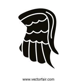 wing feathers angel silhouette style