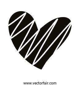 striped heart love romantic silhouette style icon