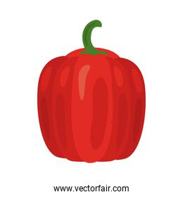 fresh red pepper vegetable healthy food icon