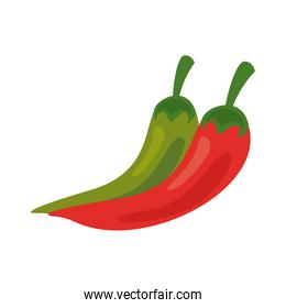 chili peppers fresh vegetables healthy food icon